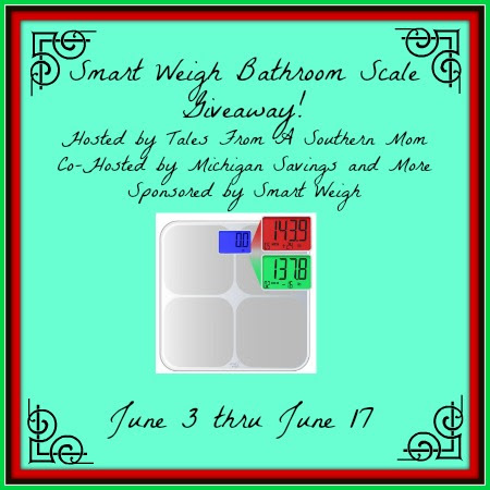 Enter the Smart Weigh Scale Giveaway. Ends 6/17