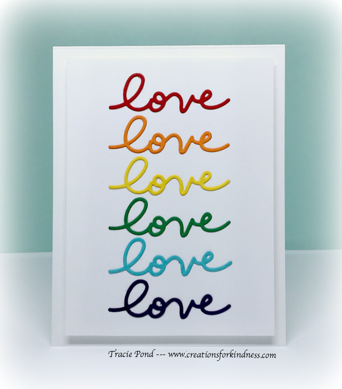 The Challenge #69 Rainbow Heart Inspiration Tracie Pond