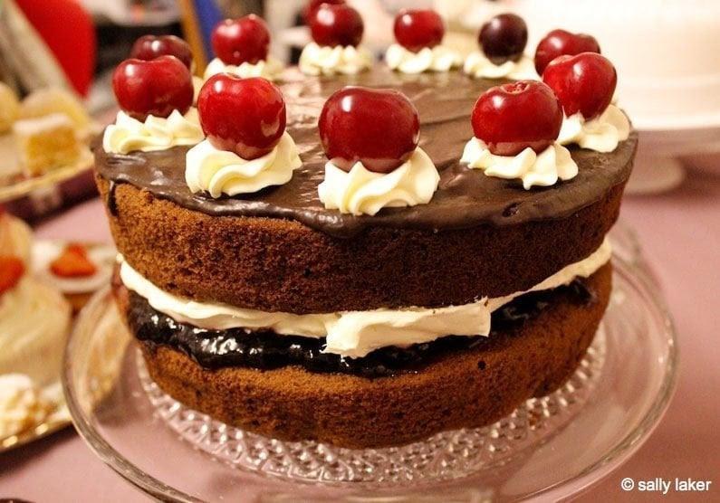 The Food of Love: Chocolate, Amaretto and Cherry Cake  BaldHiker