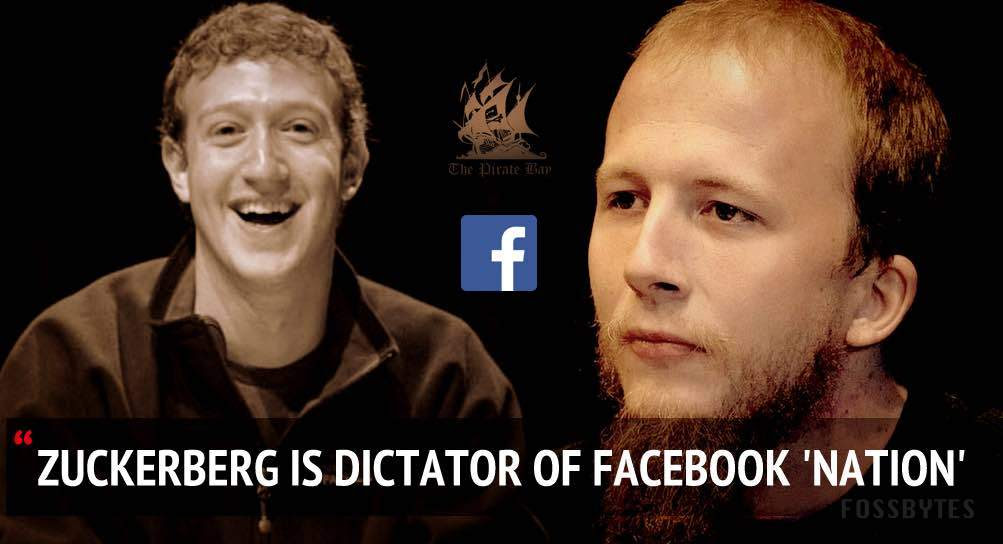 facebook zuckerberg dictaor said by peter sunde