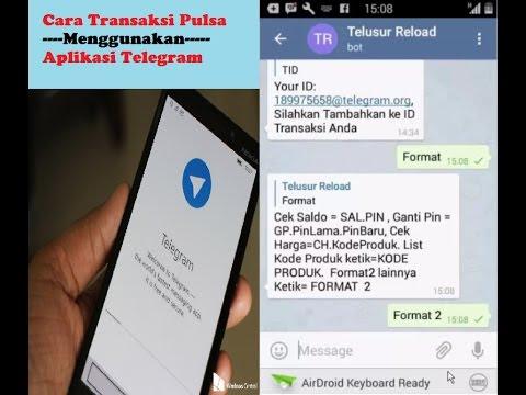 Cara Jual Pulsa Melalui Telegram | 02 Jual Pulsa Harga Murah