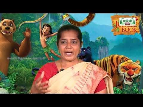 7th English Bridge course Play- The Jungle Book & Kinds of Sentences Day1 & 2 Kalvi TV