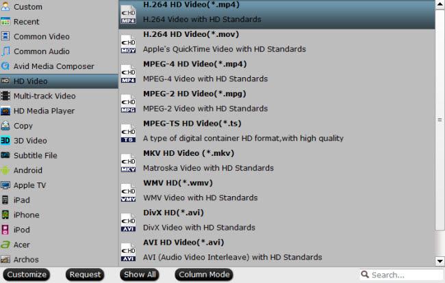Define output file format.