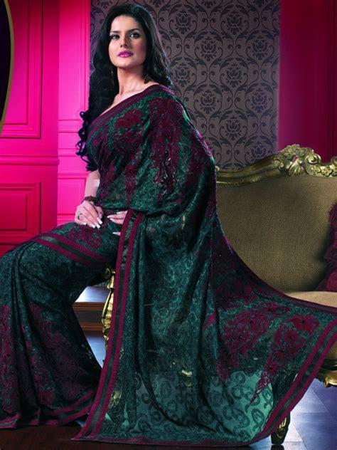 Priyanka Saree Blue and Purple   Celebrity Sarees