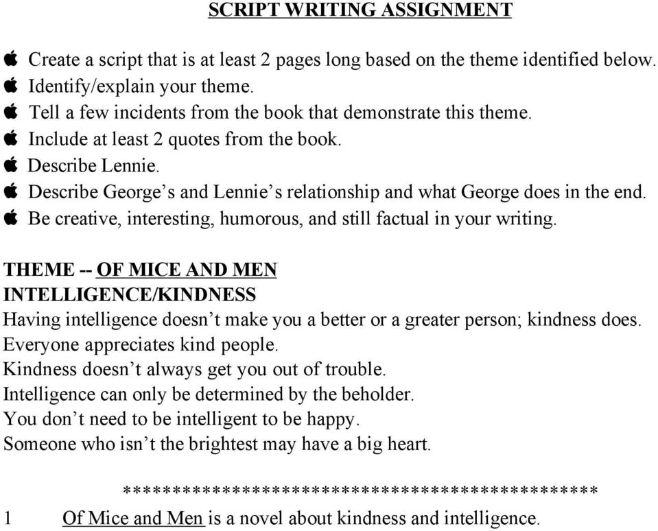 Themes Of Mice And Men Friendship Pdf