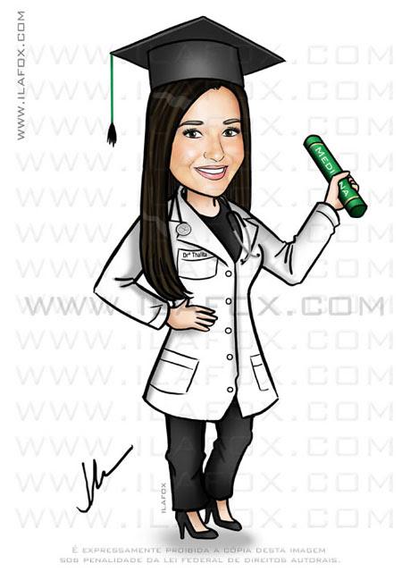 caricatura formatura, caricatura formanda, medicina, by ila fox