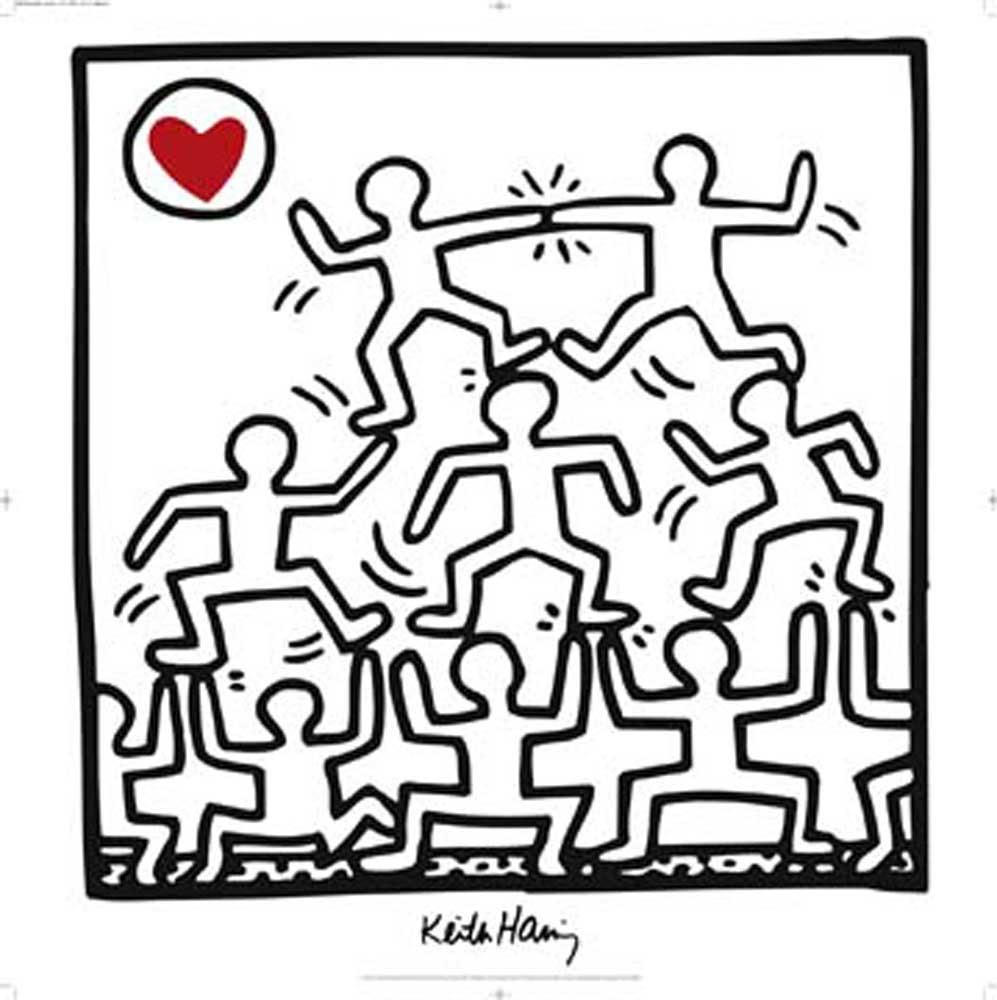Keith Haring Untitled 1987 Kunstdruck 70x70