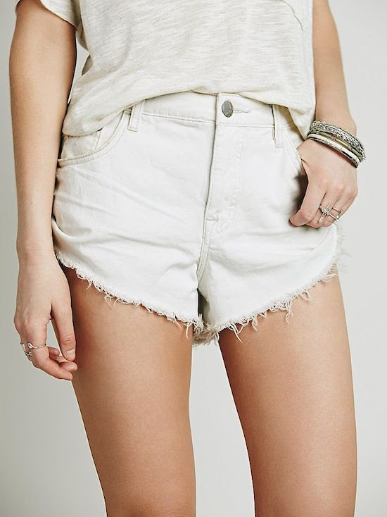 Le Fashion Blog Summer Style Under 100 Free People Irreplaceable White Denim Cut Offs Budget Friendly Affordable Shorts