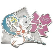 London 2012 Olympics Mascot Water Polo Pin