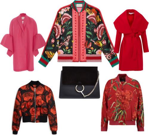 Must-Have Autumn/Holiday Jackets & Coats w/HANDBAG of the season by splenderosa featuring a floral bomber jacket