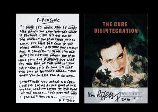 The Cure's Robert Smith donates handwritten 'Plainsong ...