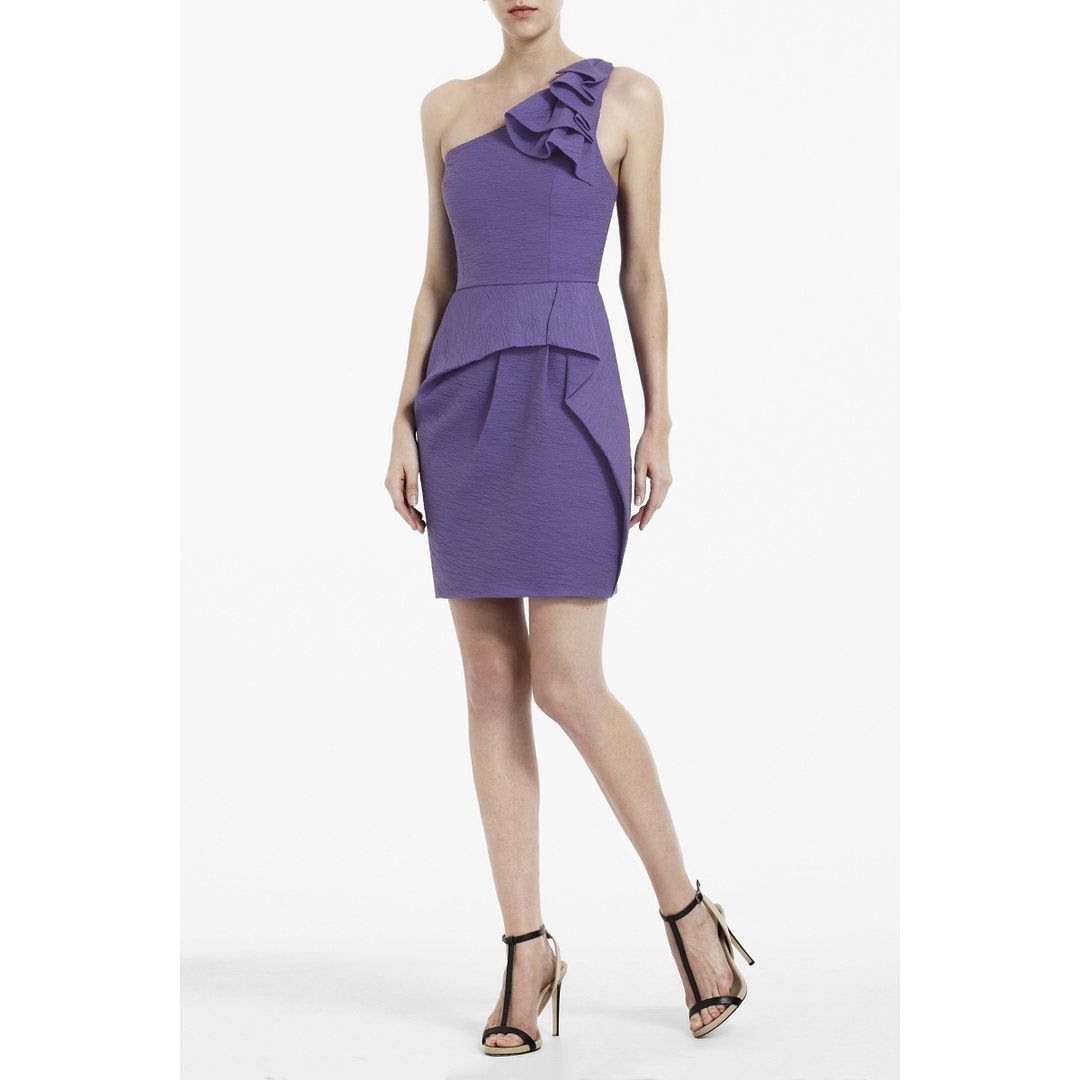 BCBGMAXAZRIA Audrey One-Shoulder Short Dress