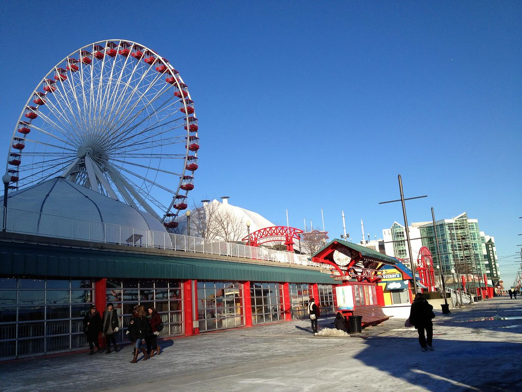 Navy Pier - Windy City - See Highlights From Around Chicago, Illinois! (via Wading in Big Shoes)