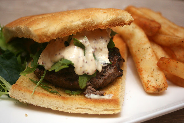 Meatworks burger on ciabatta