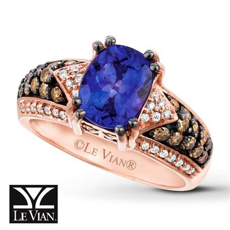 le vian chocolatier blueberry tanzanite ring