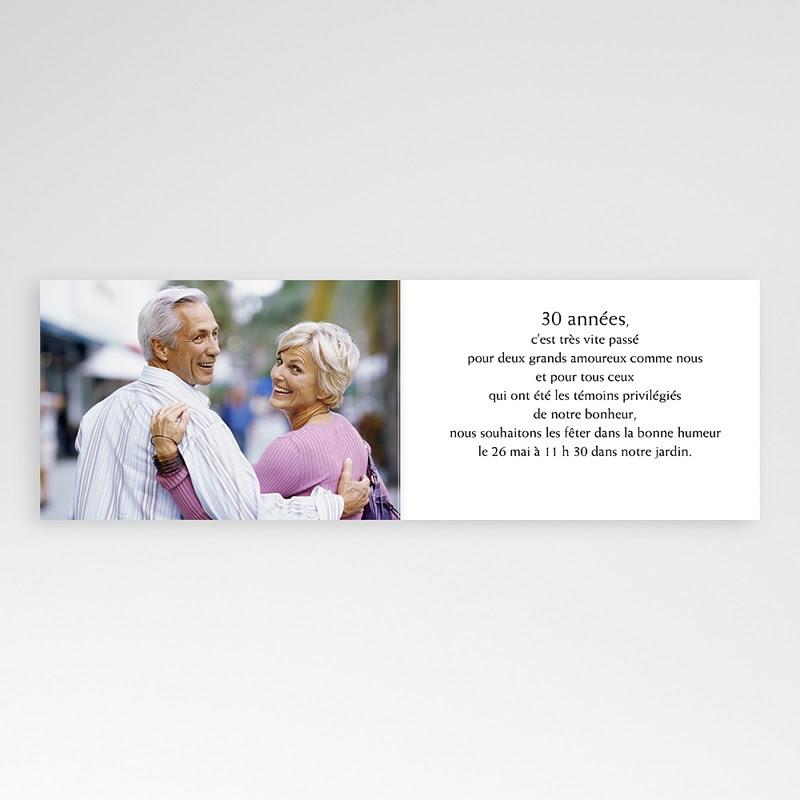 Carte Invitation Anniversaire De Mariage 30 Ans Zeeep Web