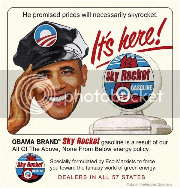 Obama Sky Rocket