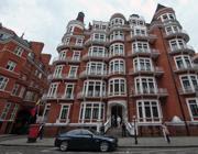 La sede dell'ambasciata dell'Ecuador a Londra