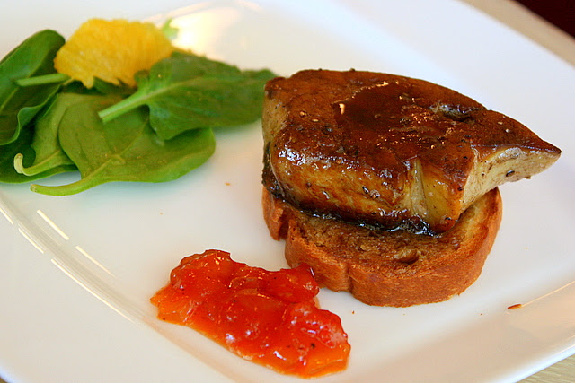 Pan-fried foie gras
