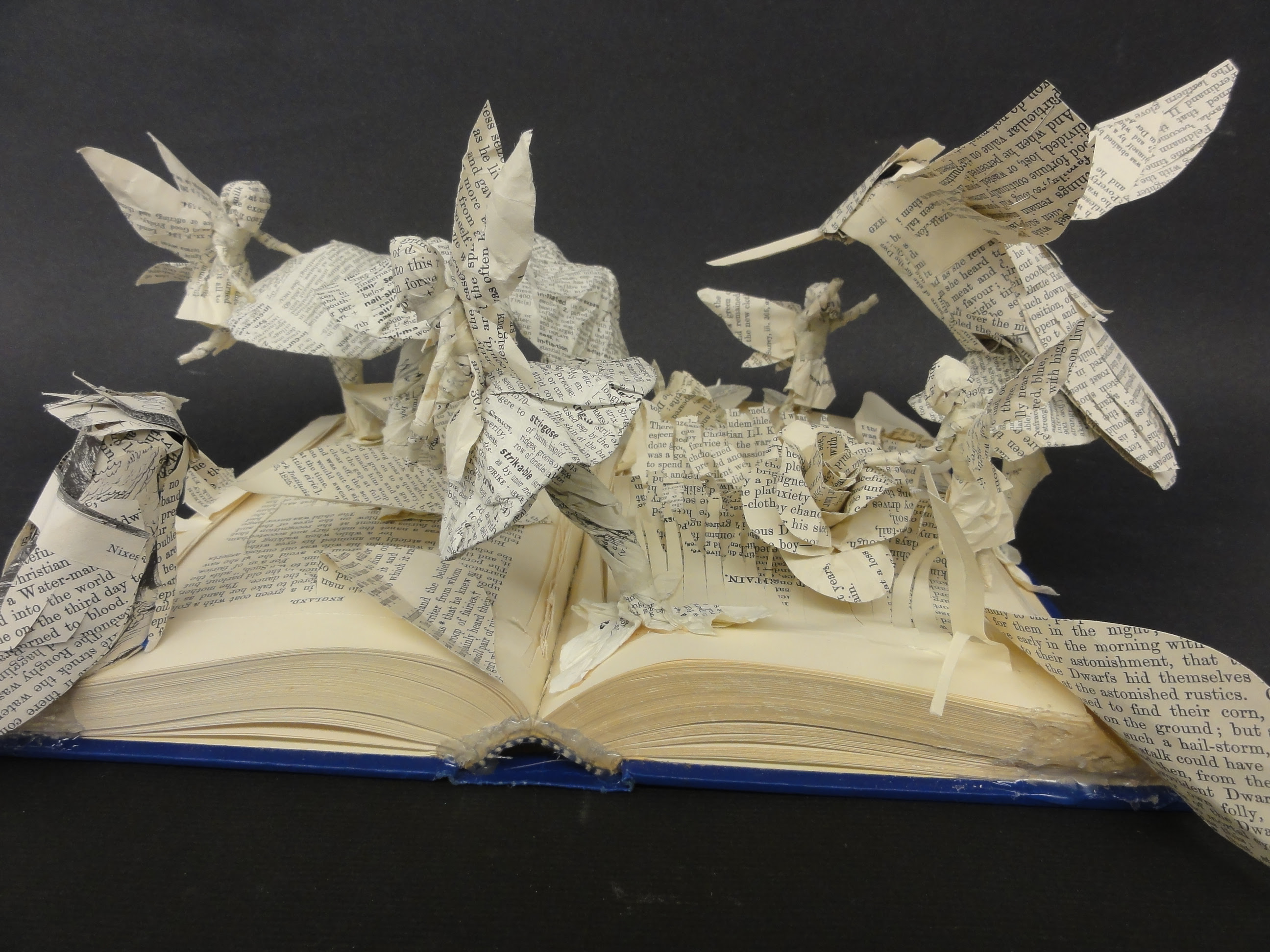 Bayside High students create book sculptures - The Core