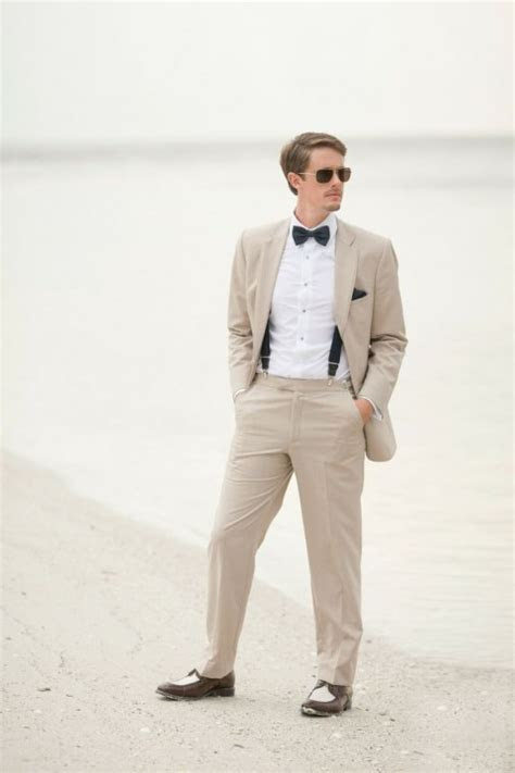 2016 Slim Fit Linen Beach Wedding Men Suits Custom Made