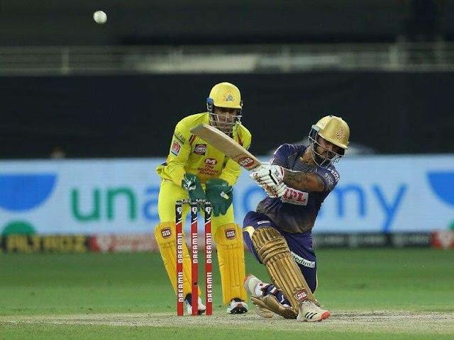 IPL-2020 : नितीश की तूफानी पारी की बदौलत KKR ने CSK को दिया 173 रनों का लक्ष्य