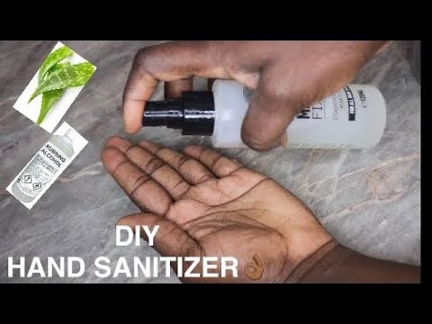 HOW TO MAKE HAND SANITIZER AT HOME WITH ALOE VERA