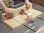 Small Parts Tablesaw Sled Woodworking Plan - fee plans from WoodworkersWorkshop® Online Store - tablesaw jigs,workshop,full sized patterns,woodworking plans,woodworkers projects,blueprints,drawings,blueprints,how-to-build