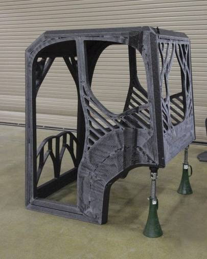 The first ever 3D-printed excavator will include a cab (pictured) designed by a University of Illinois at Urbana-Champaign student engineering team
