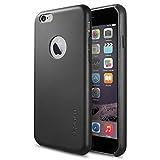 iPhone 6 レザー ケース Spigen [パーフェクト-フィット] Apple iPhone 4.7 レザー・フィット (2014) (国内正規品) (ブラック【SGP11354】)