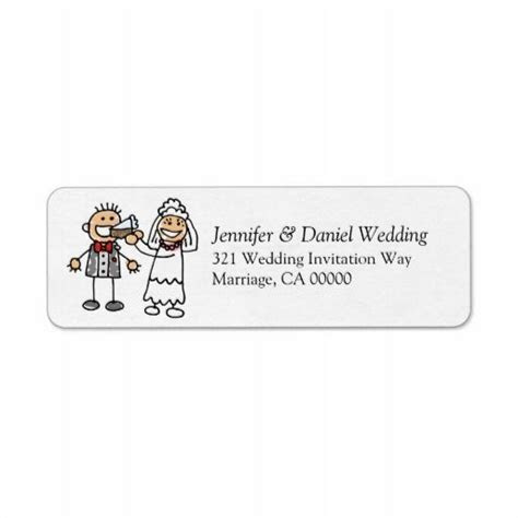 Weddings Invitation Return Address Sticker