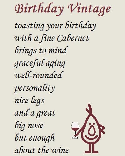 Birthday Vintage A Funny Poem Free Funny Birthday Wishes Ecards