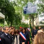 Square Sainte Odile/ Paris: une plaque pour Myriam, Arié et Gabriel