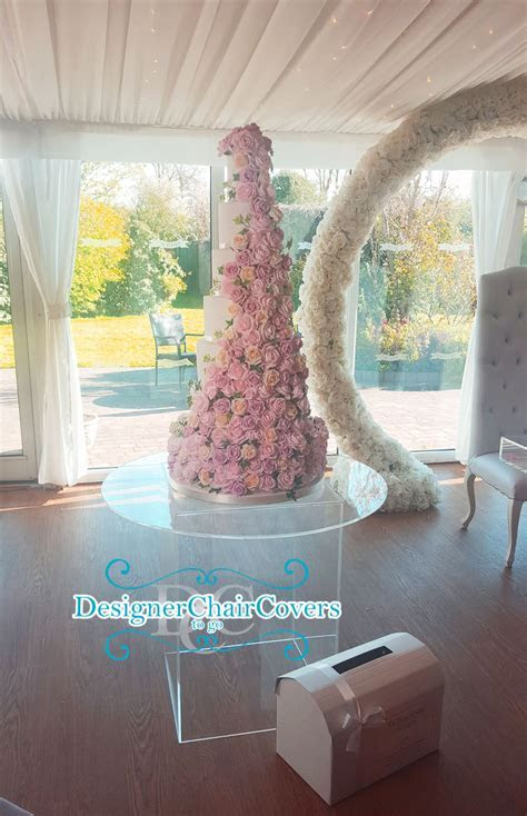 Clear Cake Table   Designer Chair Covers To Go