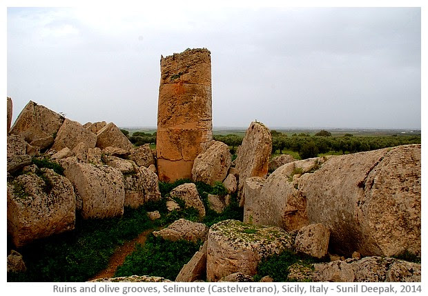 Ruins of Selinunte, Castelvetrano, Sicily, Italy - images by Sunil Deepak, 2014