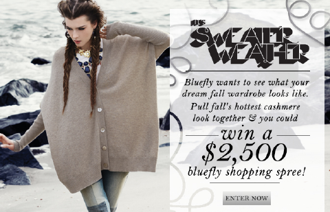 Bluefly Sweater Weather Contest - Win a Bluefly Gift Card