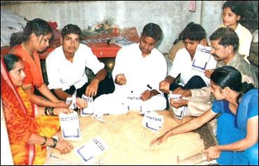 Prakash Singh with his family.