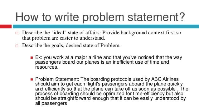 how to write a problem solution thesis statement