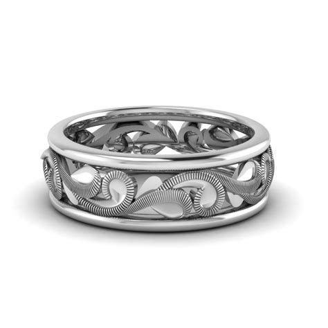 filigree eternity wedding band   white gold