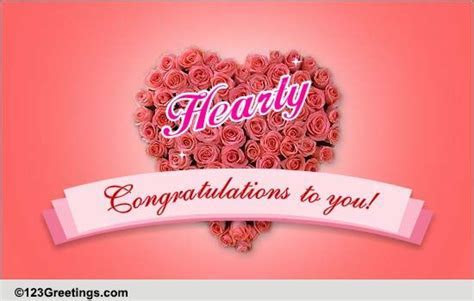 Hearty Congratulations! Free For Everyone eCards, Greeting
