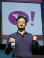 Jerry Yang, Yahoo CEO and co-founder, speaks at a keynote  address at the Consumer Electronics Show (CES) in Las Vegas, Nevada in  this January 7, 2008 file photo. Yang, who started Yahoo in 1995, is  leaving the company's board of directors as well as all other positions  within the company effective January 17, 2012, Yahoo said. REUTERS/Rick  Wilking/Files    (UNITED STATES - Tags: BUSINESS)