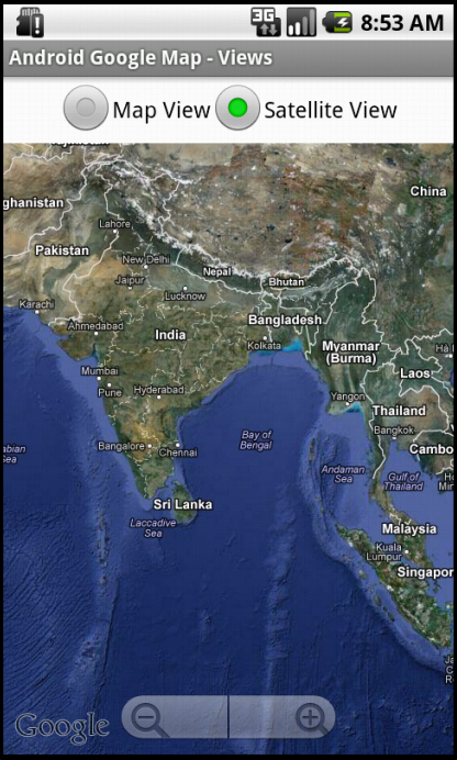 Android Google Map Switching Between Map View And