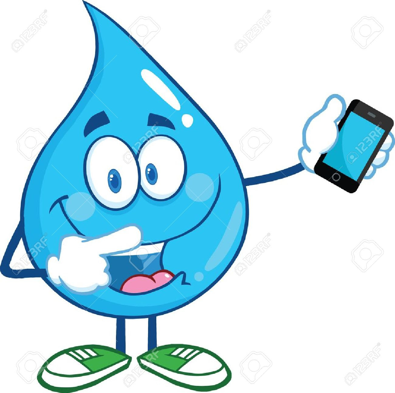 Image result for cartoon images of drop phone