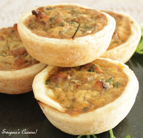 Golden Onion Chicken Quiche