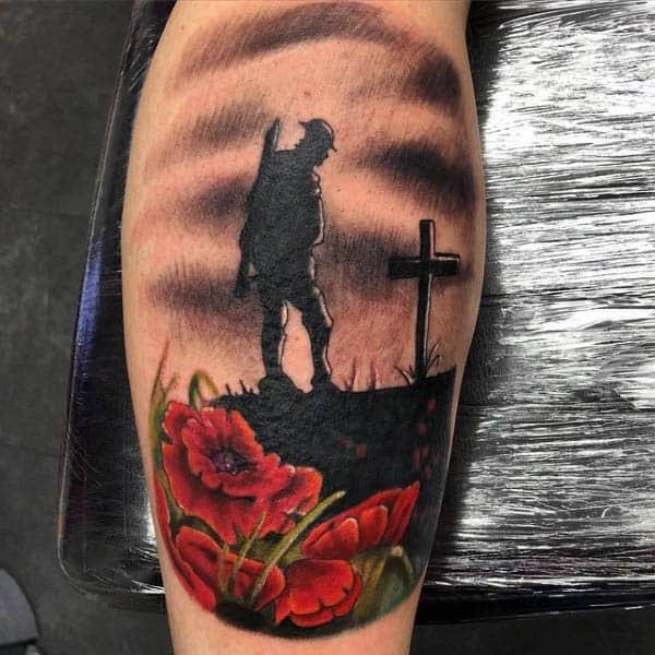 75 Poppy Tattoo Designs For Men Remembrance Flower Ink