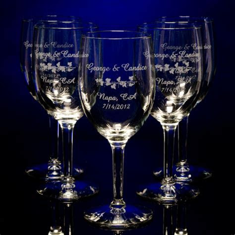 Personalized Wedding Custom Engraved Favors Glassware