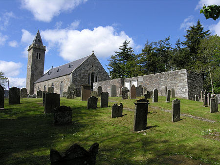 Old Deer Old Kirk on the Right, with Deer Parish Church Beyond It