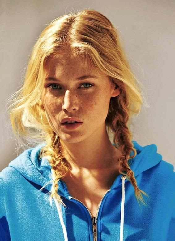 Le Fashion Blog Blonde Messy Side Braids Hairstyle Blue Zip Up Hooded Sweatshirt Via Glamour Germany