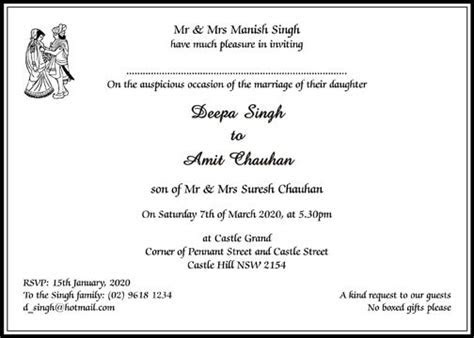 The 25  best Hindu wedding invitation wording ideas on