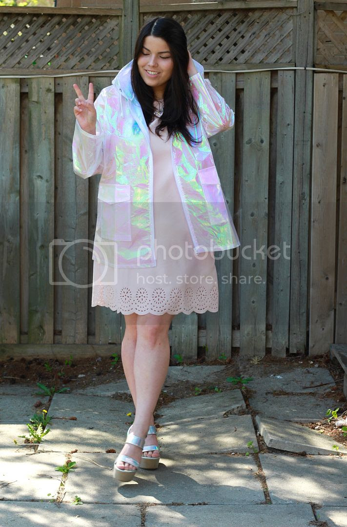 Yours Clothing Pastel Dress Holographic Coat Plus Size Missguided Jessica Ip Clothes and Shit plus size fashion